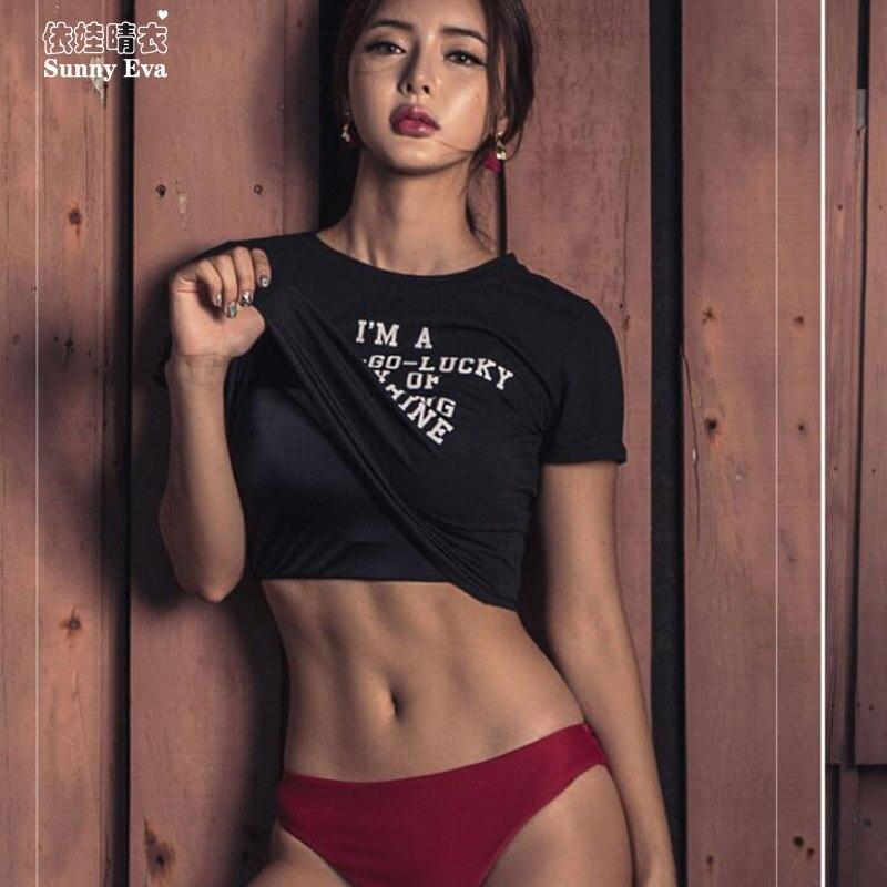 Ensoleillé eva taille haute bikini ensembles extérieurs t-shirt 3 pièces maillot de bain pour femmes 2018 sirène top maillots de bain pour femmes push-up bande