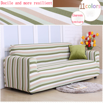 Modern simple and comfortable common striped sofa cover three-seat sofa cover all cover slip stretch sofa cover all seasons