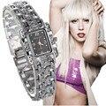 Venta caliente de Lujo de Moda Reloj de Pulsera Reloj de Plata de Las Mujeres Relojes Señoras Reloj Reloj de Señora Horas montre femme relojes mujer 2016