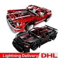 XingBao 07001 The 2014 Muscle Car + XingBao 07003 The Assassin X19 Blocks Bricks lepinings Toys Model DIY Clone LP