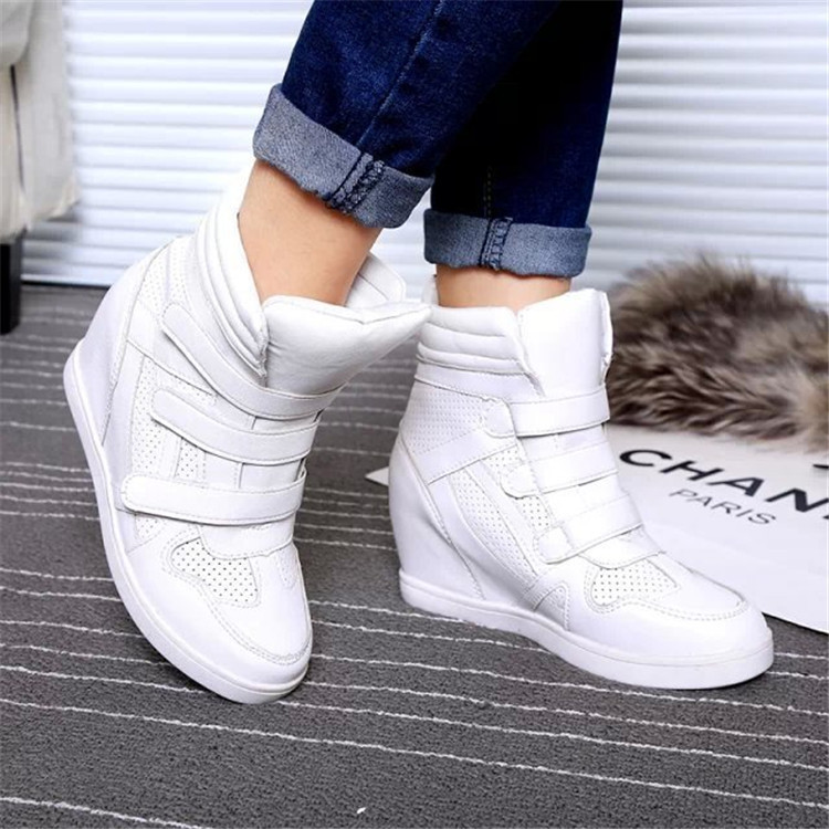fashionbrand genuine leather hightop shoes high