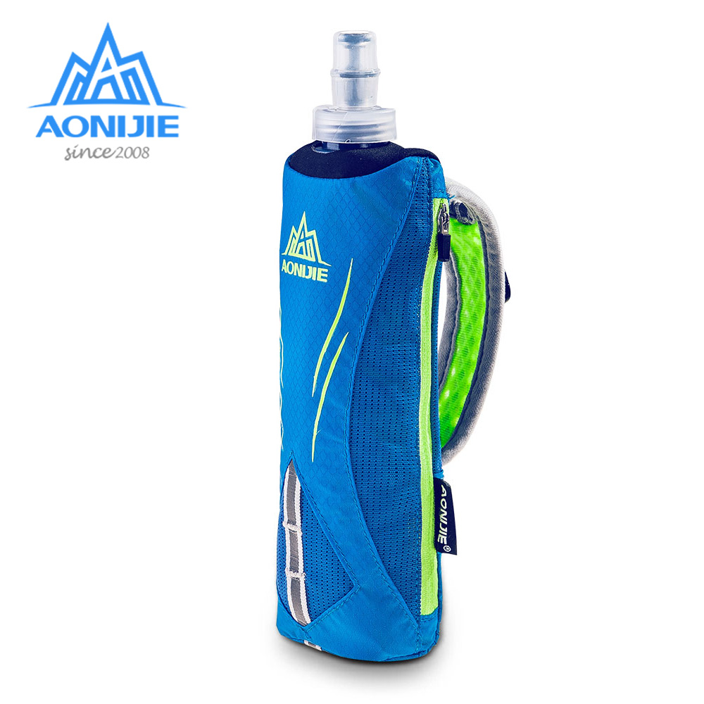 AONIJIE E908 Running Hand-held Water Bottle Kettle Holder Wrist Storage Bag Hydration Pack Hydra Fuel Soft Flask Marathon Race
