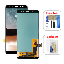 AMOLED LCD For Samsung Galaxy A8 2018 A530 A530F A530DS A530N SM A530N Touch Screen Digitizer LCD Display Assembly  Free Tools