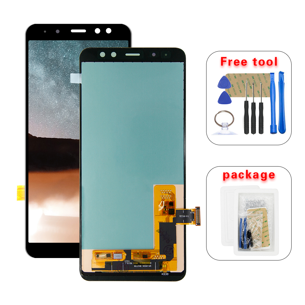 AMOLED LCD For <font><b>Samsung</b></font> Galaxy <font><b>A8</b></font> 2018 A530 A530F A530DS A530N SM-A530N Touch <font><b>Screen</b></font> Digitizer LCD <font><b>Display</b></font> Assembly Free Tools image