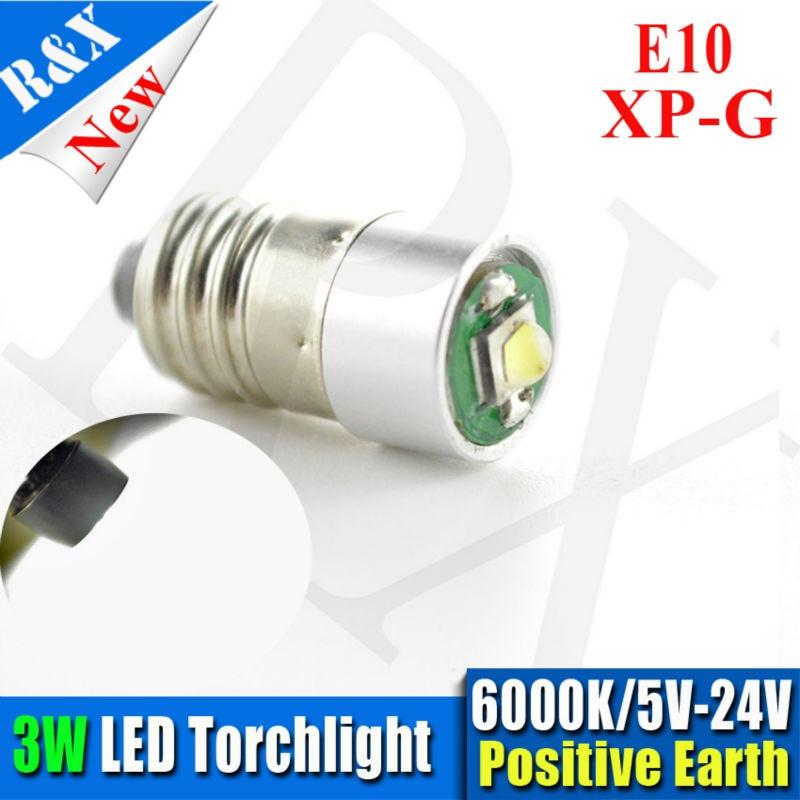 1x Super bright 5V 6V 12V 18V 24V screw base XPG Car Truck Pilot LED bulb E10 for vintage viewers white 3W цена 2016