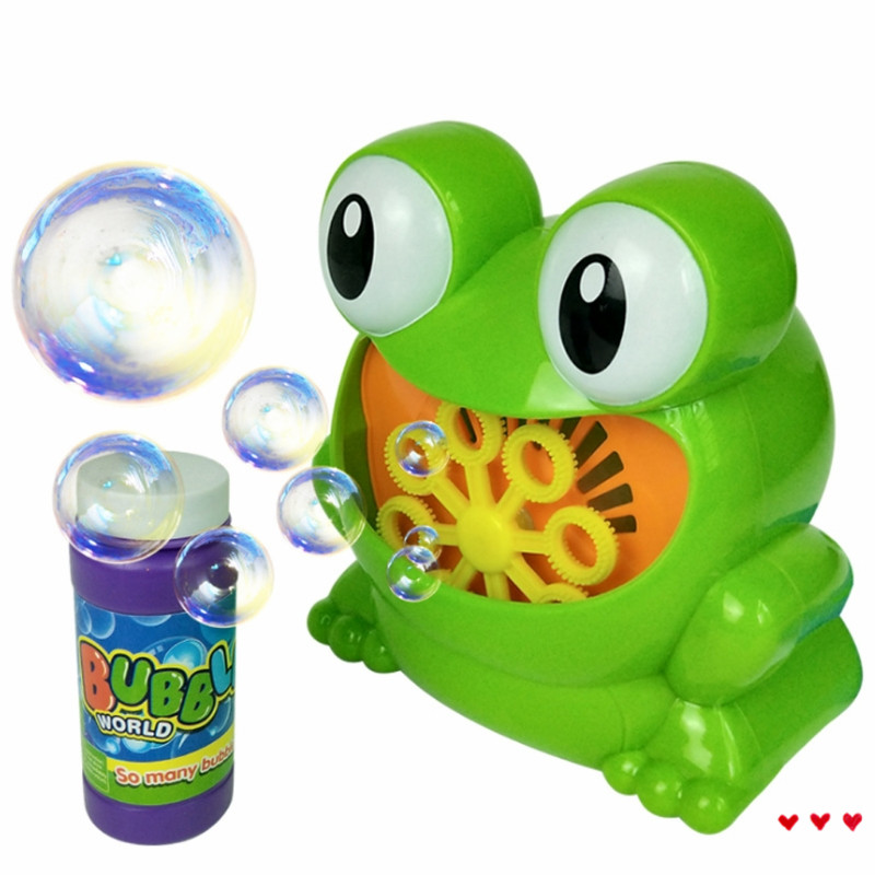 Frog Automatic Bubble Machine Blower Maker Party Wedding Outdoor Kids T