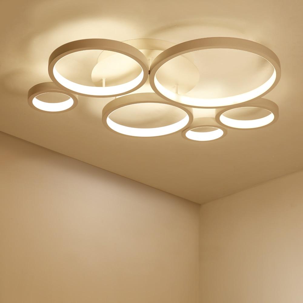 Modern Led Lamp Ceiling Lights Plafonnier Lamparas De Techo Lighting Ceiling Ring Light Living Room Bedroom Restaurant Bathroom