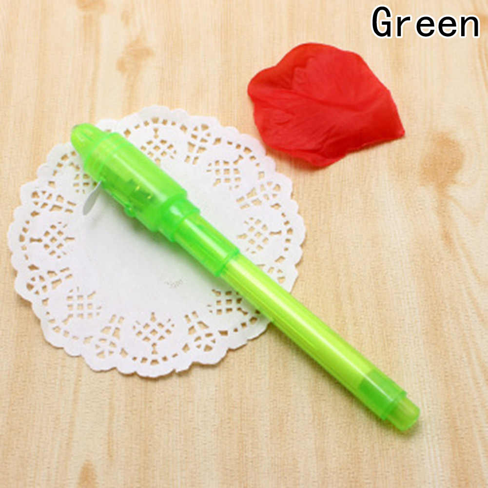 الإبداعية ماجيك ضوء الأشعة فوق البنفسجية غير مرئية قلم حبر مضحك قلم تحديد للأطفال الطلاب هدية الجدة البند الكورية المستلزمات المدرسية والقرطاسية