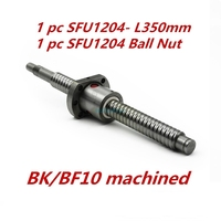 Ballscrew SFU1204 350mm 1pc Ballscrew Ball Nut For CNC And Without End Machined Woodworking Machinery Parts