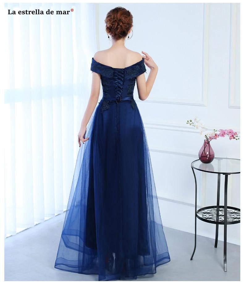 Vestido para madrinha2018 new Tulle Boat Neck short sleeve a Line navy blue  ivory burgundy bridesmaid dresses long cheap -in Bridesmaid Dresses from ... aafbf6b285bd