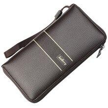 Men Wallets PU Leather Long Large Capacity Zipper Male Card