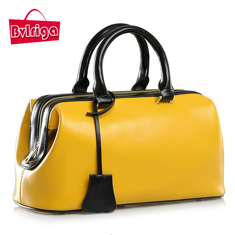 ФОТО BVLRIGA Genuine leather bag doctor bag famous brands women leather handbags luxury handbags women bags designer tote bag bolsas
