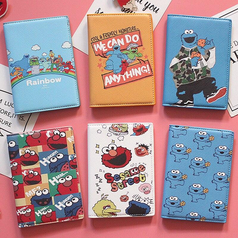 Cartoon Lovely Kids Passport Cover Boys Travel Passport Case Men And Women Business Passport Holder ID Card Holders