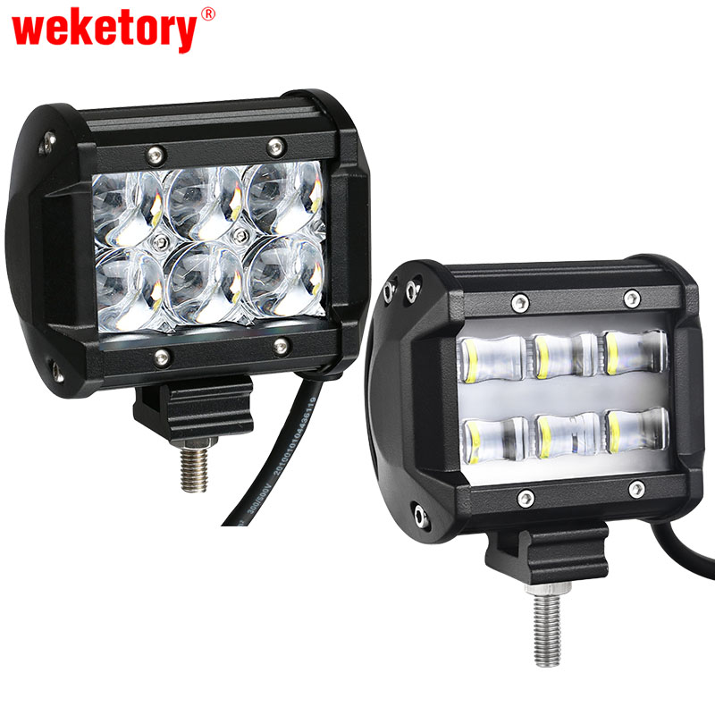 weketory 9D 5D 4 inch 30W LED Work Light Bar for Tractor Boat OffRoad 4WD 4x4 Truck SUV ATV