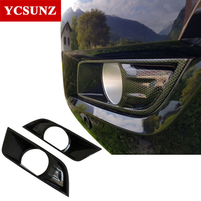 Car Accessories Abs Carbon Fiber Fog Light Cover For Ford Ranger T7 2016 2017 2018 Wildtrak