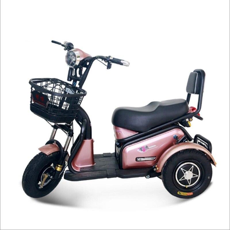 Adulte tricycle électrique Citycoco scooter électrique Mini loisirs vélo électrique 500 W LED motos électriques