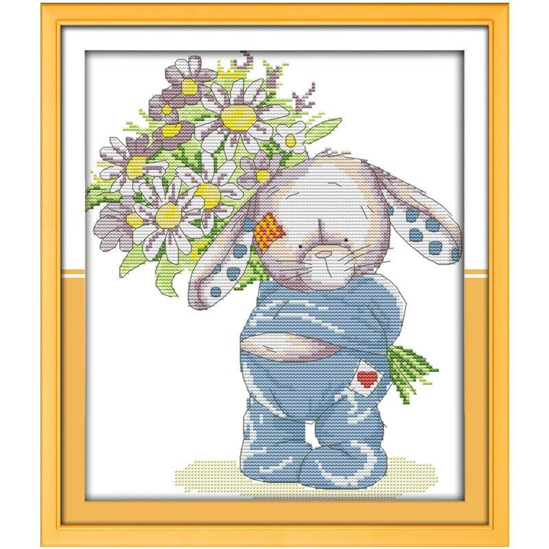 Cruz con el escrito patrón conejo presente ramo chino contado Cruz ...