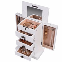 Fashion High Quality Wood Box Storage Case For Jewelry Women Makeup Gift For Girl Free Shipping