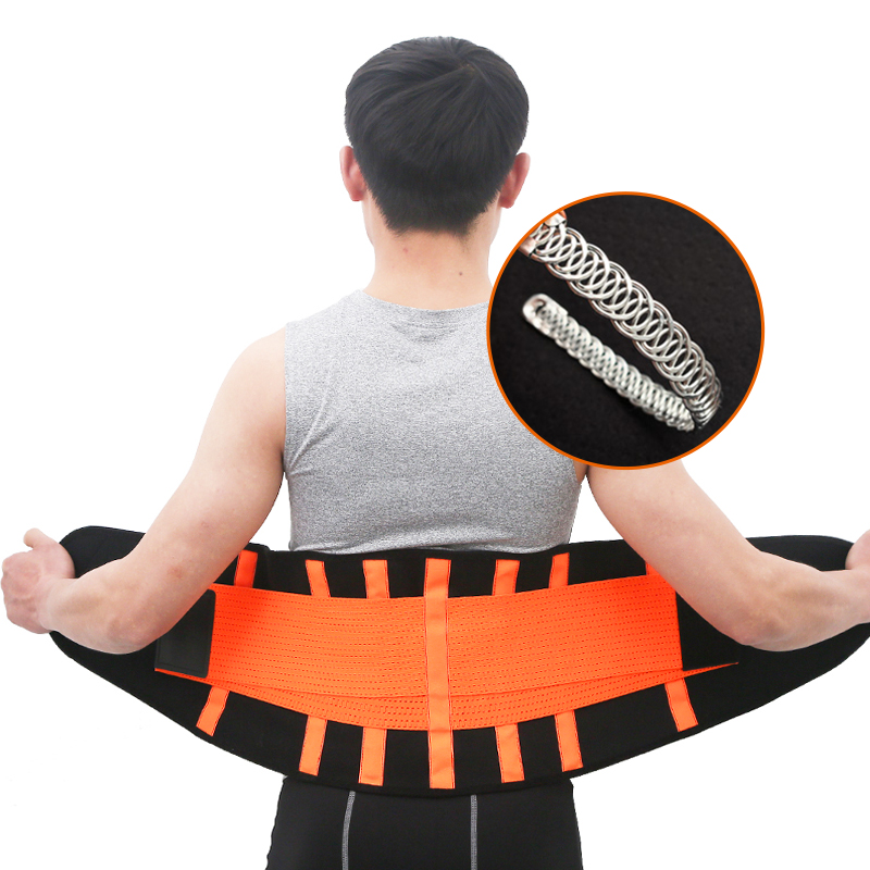 Men And Women Waist Trimmer Belt Lumbar Back Support Gym Fitness Weightlifting Belt Adjustable Abdominal Elastic Waist Trainer цены