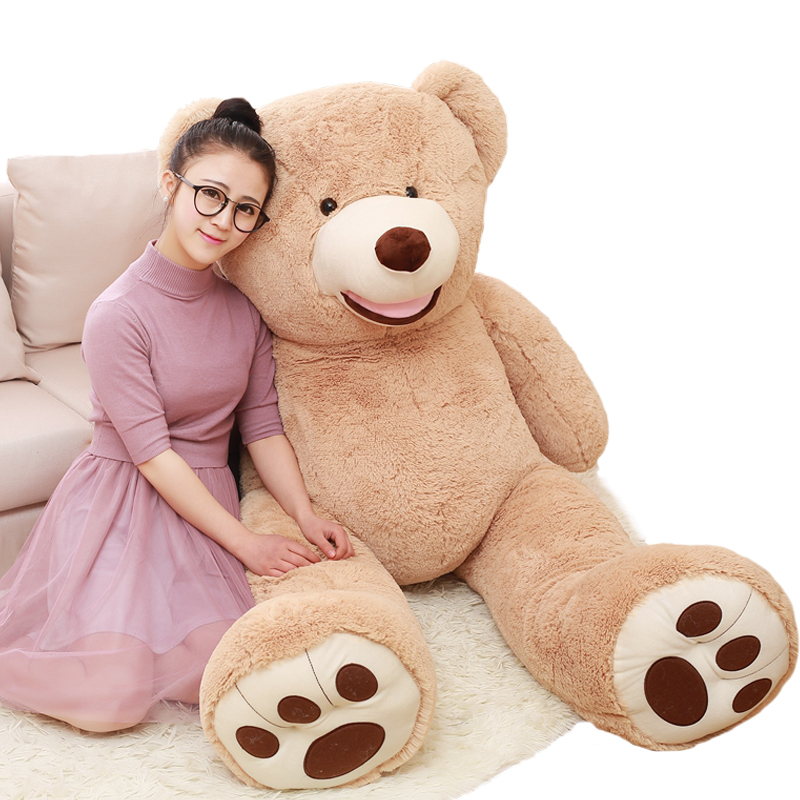 100cm big size American giant bear plush toy stuffed soft Teddy bear animal doll for baby adult lover sleeping birthday gift 78 200cm giant size finished stuffed teddy bear christmas gift hot sale big size teddy bear plush toy birthday gift