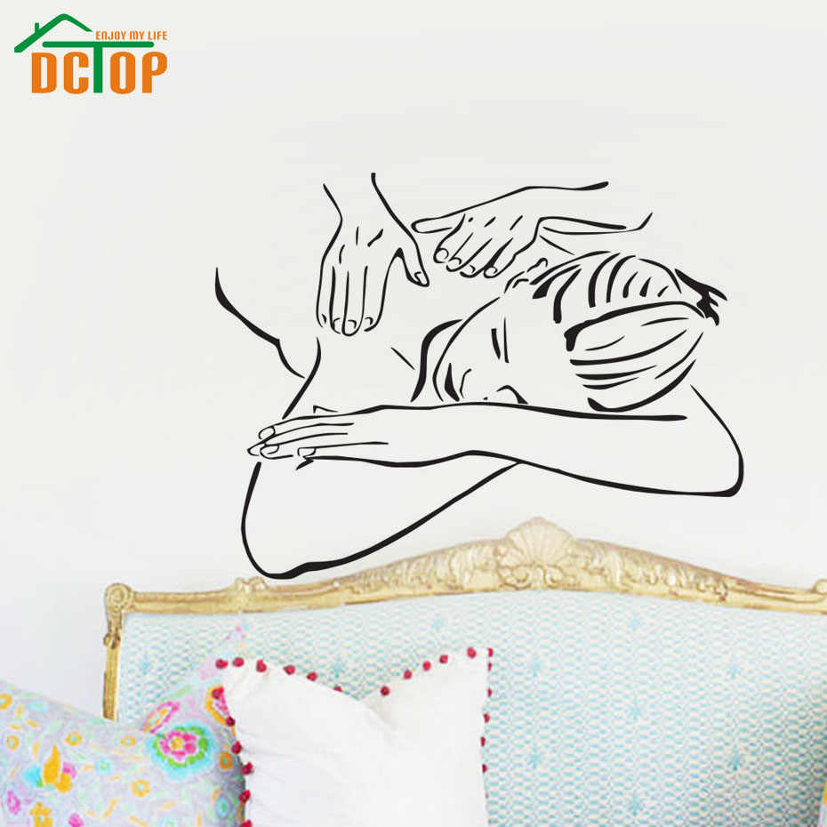 Spa Beautiful Girl Woman Wall Art Sticker Beauty Salon Massage Vinyl Wall Decals For Room Decor Hot Selling