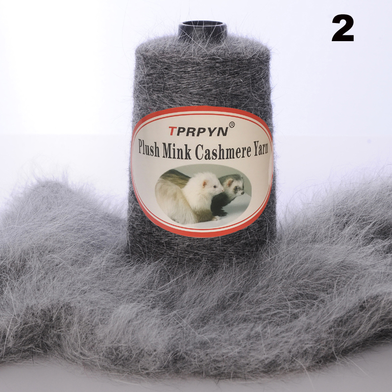 Image 4 - TPRPYN 200g /lot With Free Partner Yarn thread to knit Mink cashmere wool yarn Mink knitting crochet line knitting NL164R147-in Yarn from Home & Garden
