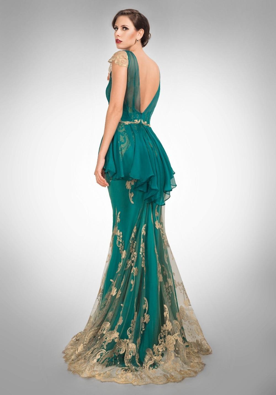 Aqua Cap Sleeve Mermaid Prom Dress – fashion dresses