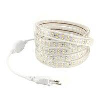 220 В светодиодный лампы Газа SMD2835 180L/м Двухрядные гибкие полоски Рубан интерьер дома потолочный Lampara ленты Водонепроницаемый IP65 Тира