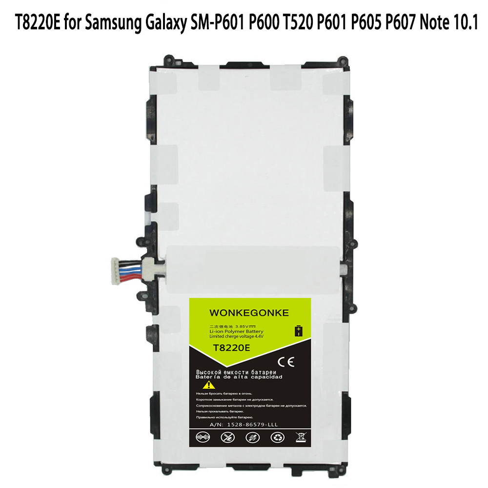 WONKEGONKE T8220E for <font><b>Samsung</b></font> Galaxy SM-P601 P600 T520 P601 P605 P607 <font><b>Note</b></font> <font><b>10.1</b></font> <font><b>2014</b></font> <font><b>Edition</b></font> 8220mAh <font><b>Battery</b></font> <font><b>Batteries</b></font> image
