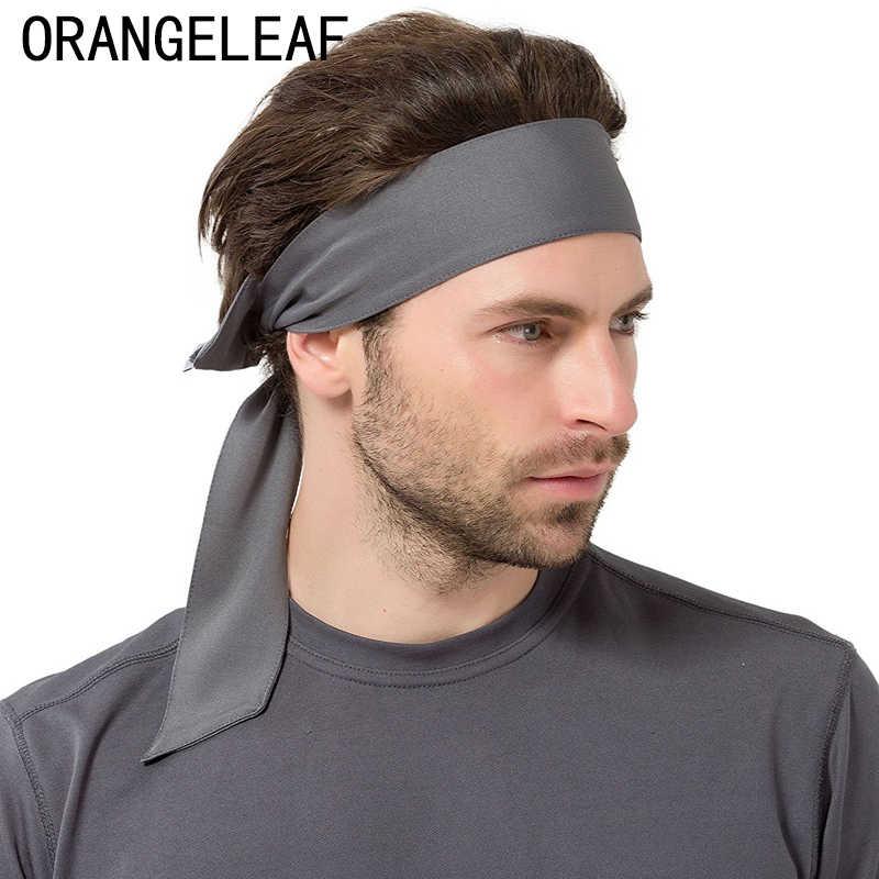 dc7a1fb89791 Sport Headbands Stretch Tie Back Sweatbands Hair Band Yoga Gym Moisture  Wicking Men Women Bands
