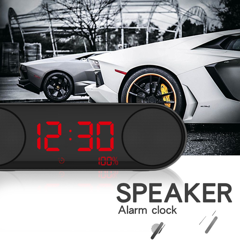 Alarm Clock Wireless Bluetooth Speaker Overweight Subwoofer Mini Small Stereo Mobile Phone Computer Car Speaker flying saucer style car wireless bluetooth speaker w tf u disk alarm clock black red