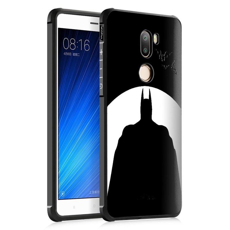 Retro 3D Relief Black cartoon batman Cat soft tpu cover Case for Xiaomi 5s plus mi5s plus xiaomi mi 5s plus m5s plus with pen