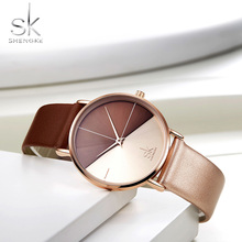 купить SK Relogio Feminino Women Watch Top Brand Luxury 2018 Women Leather Watches For Ladies Quartz Wrsit Watch Montre Femme SHENGKE дешево