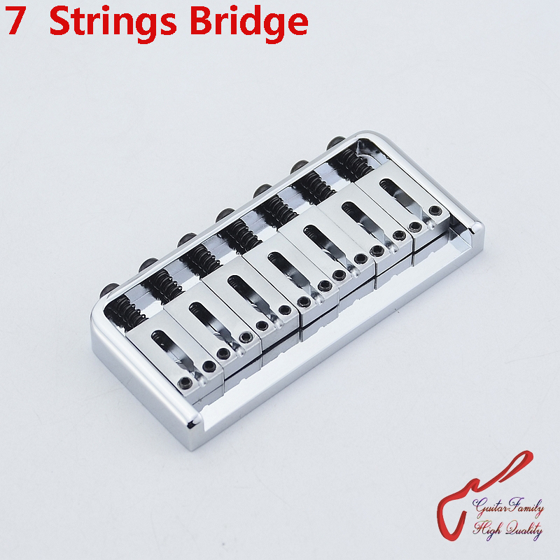 1 Set GuitarFamily Super Quantity 7 Strings Electric Guitar Fixed Bridge Stainless Saddle / Steel Plate Chrome MADE IN KOREA цена