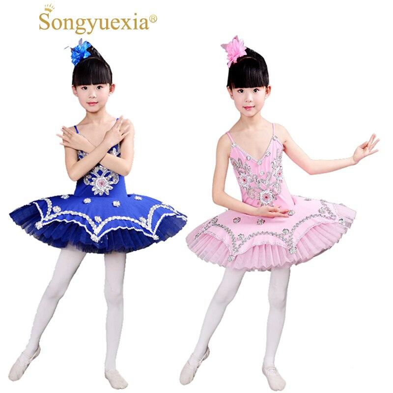SONGYUEXIA enfants Tutu robe de Ballet filles professionnel lac des cygnes ballerine robe jupe vêtement de danse pour femme 6 couleurs
