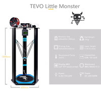 2017 Newest 3D Printer TEVO Deltal TEVO Little Monster Large Bed Open Builds Extrusion Smoothieware MKS
