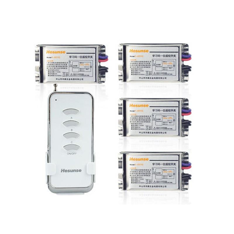 New Model Smart Home 220V Four Ways Digital Wireless Remote Switch with 4 Metal Receivers Cheap Price фрутоняня нектар банан с мякотью с 1 года