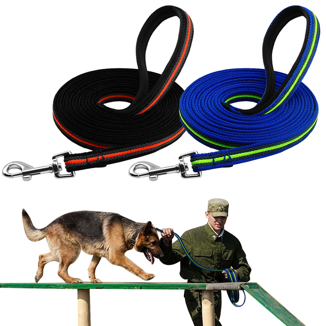 Durable Large Dog Leash Nylon Dog Tracking Training Leash Dogs Long Leashes Rope for German Shepherd Rottweiler K9 Recall