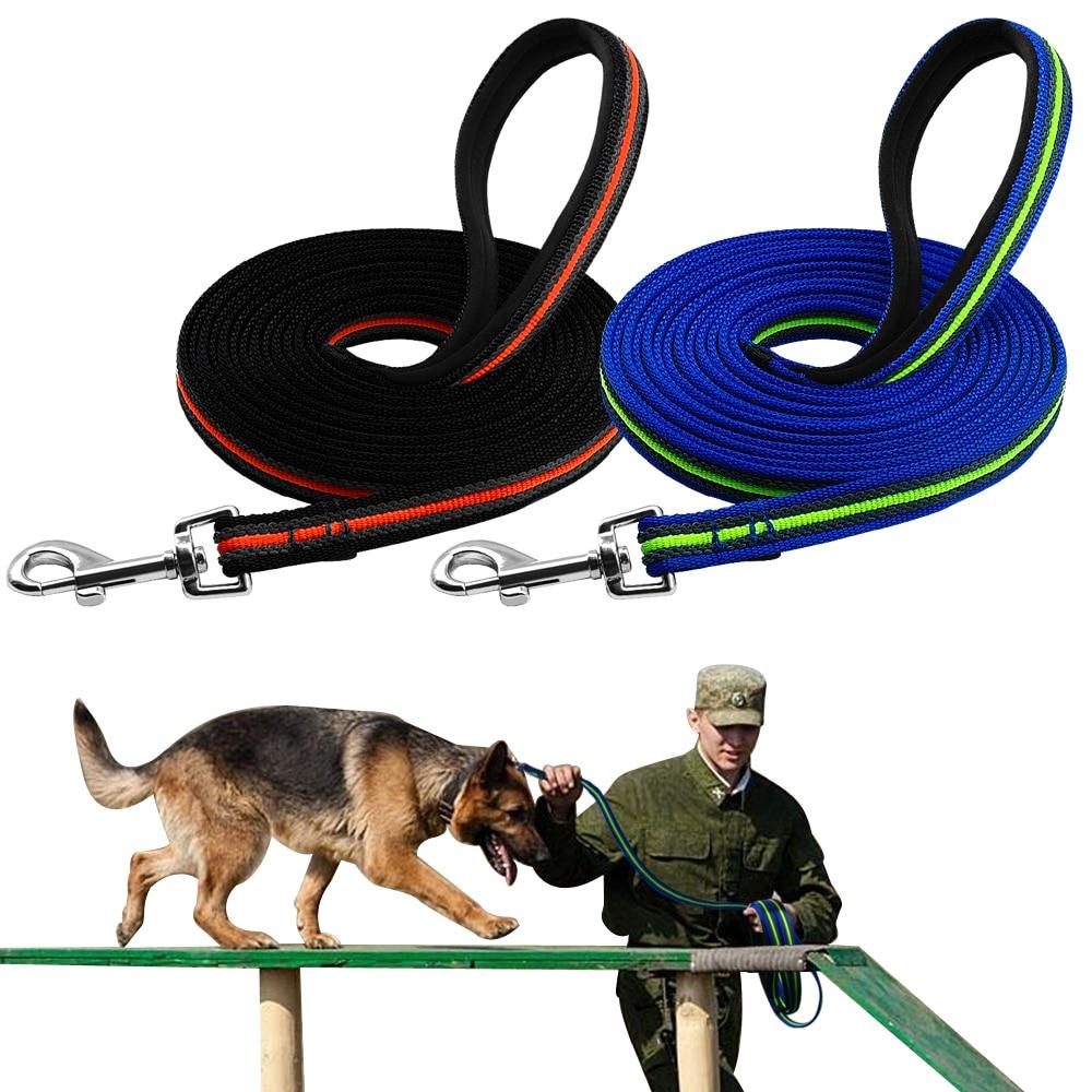 d84b3d00a3ef Durable perro correa de Nylon para perro de formación Correa perros larga  correas cuerda para pastor alemán Rottweiler K9 recordar