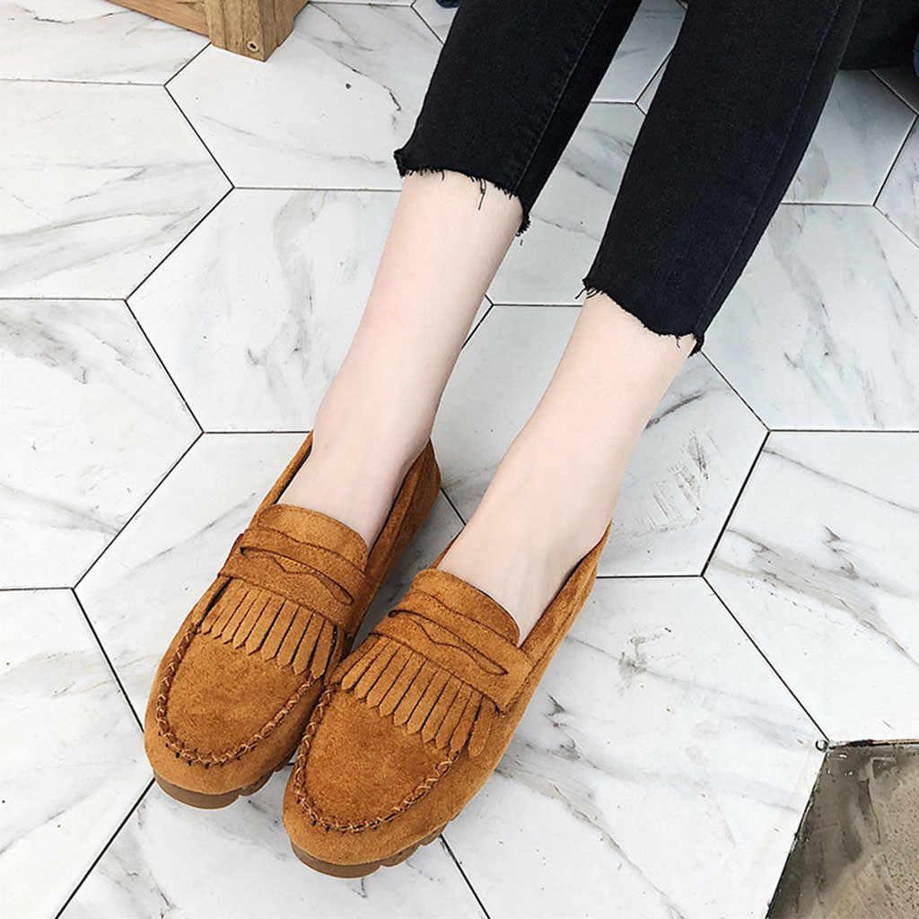 Kwastje Ronde Neus Loafer Platte voor vrouwen Fashion Casual Sneaker Doug vrouwen Schoenen leisure ronde neus loafers vrouwen chanclas