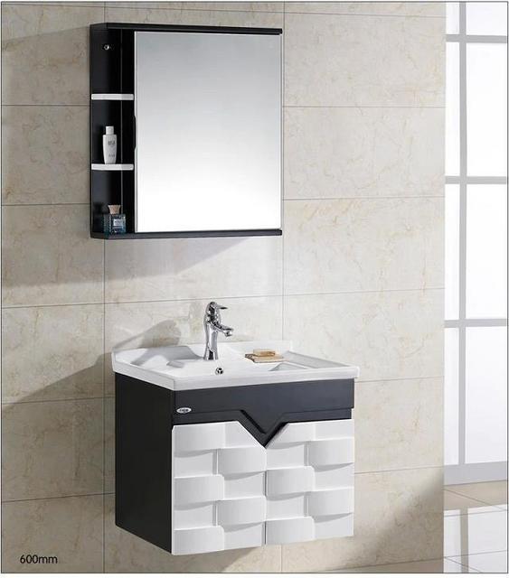 Style moderne mur suspendu vanité armoire de salle de bain simple ...