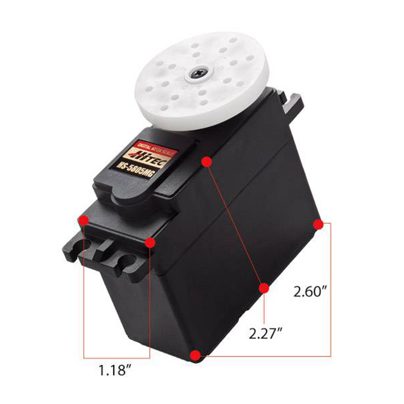 HiTec HS-5805MG Mega Metal Gear Giant Scale digital Servo 25KG/197g for RC cars hitec hs 7945th high voltage titanium gear coreless ultra premium servo 23kg 68g for rc hobby