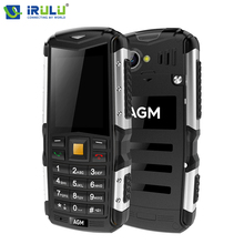NEW AGM M1 2.zero inch Tri-proof Cell Telephone 128MB+64MB 2570mAh 3G WCDMA Cellphone 2MP IP68 Waterproof Telephone Twin SIM Twin Standby