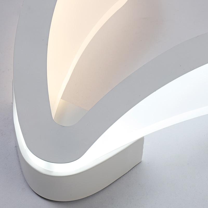 American wall lamp warm bedroom bedside lamp modern simple LED living room lights TV wall background creative lighting