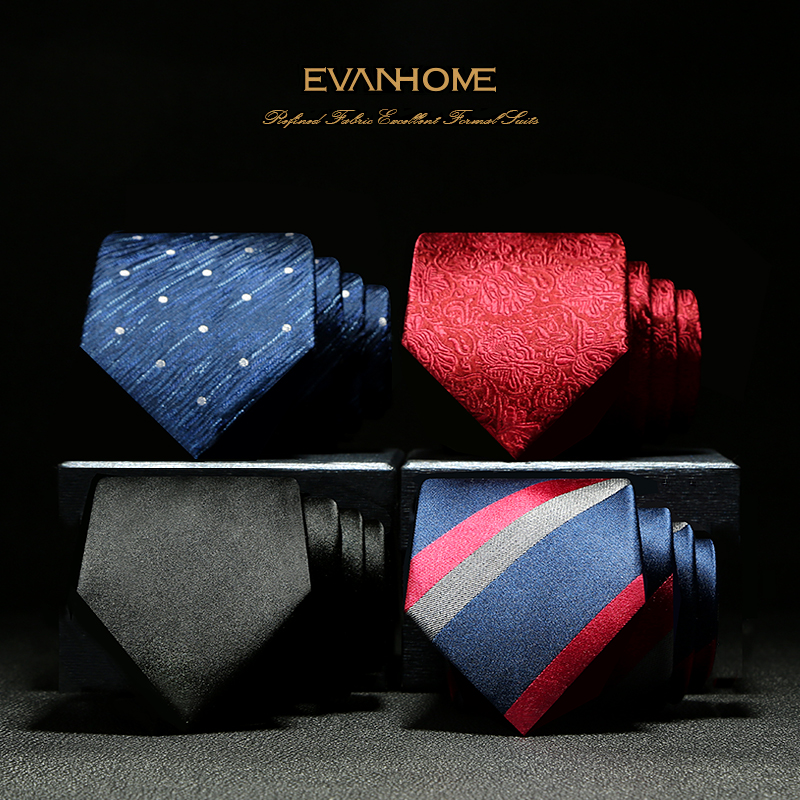 New Arrivals High Quality 7CM 100% Silk Ties for Men British Style Brand Wedding Necktie Noble Stripe Business Tie with Gift Box