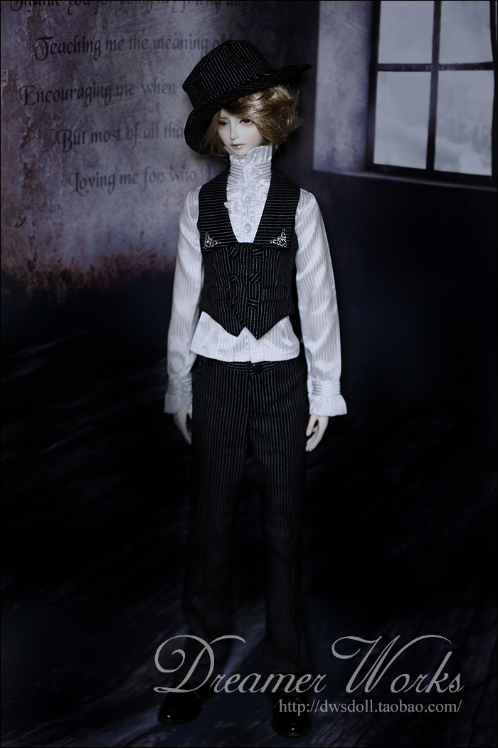1/4 1/3 scale BJD doll clothing Shirt+Vest+Trousers suit for BJD SD MSD accessory.Not included doll,shoes,wig and other 17C3414 1 3rd scale 65cm bjd nude doll bazael bjd sd doll boy with face up not included clothes wig shoes and accessories