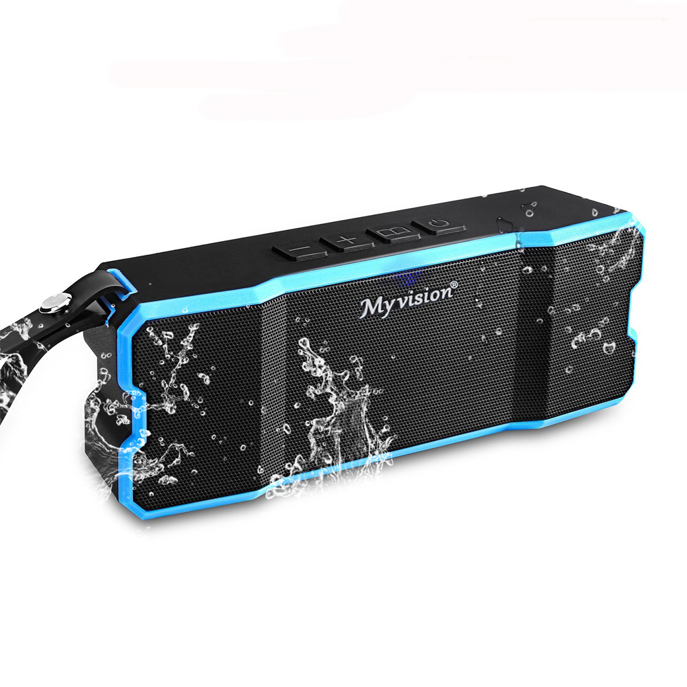 bt801 2*5w portable waterproof mini bluetooth speakers with 4500mah battery capacity