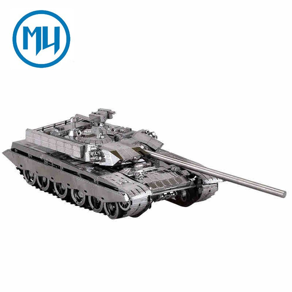 2017 MU 3D Metal Puzzle T-99 Tank Building Model Kit YM-N027-S DIY 3D Laser Cut Jigsaw Toys For Audit