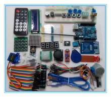 UNO R3 KIT versión Mejorada del Starter Kit RFID aprender Suite kit LCD 1602 para arduino