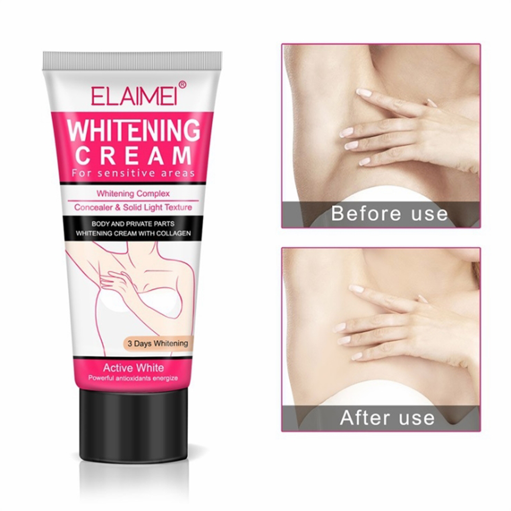 ELAIMEI Underarm Whitening Cream For Sensitive Area Skin Body And Private Parts Whitening Cream Skin Care Underarm Leg Arm Knee